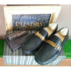 Zapato Franco Cuadra Mod:a08axbs Becerro Negro/piton Casual