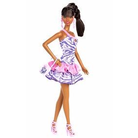 Barbie Grace So In Style Sis Negra Afro Americana Boneca
