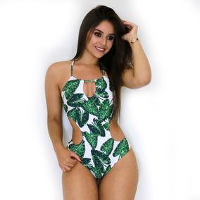 Maiô Feminino Engana Mamãe Lycra Estampado Moda Praia Verão