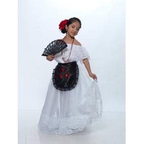 Traje De Veracruz Tehuana Jarocha Disfraz