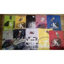 Camiseta Masculina Kit 7 Pc Hollister Calvin Klein E Outras