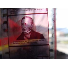 Antiguo Par De Positivos A Color Biografia De Benito Juarez