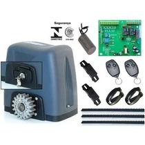 Kit Automatizador Motor Dz Nano Turbo Rossi C/ 3 Cremalheira