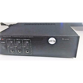 Amplificador Otto 1 Canal, 20w Para Sonorizacion
