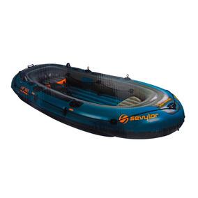 Bote De Pesca Inflable 340cm 6 Personas Para Motor Coleman
