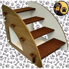 Escada Para Cães E Gatos Madeira 4 Degraus