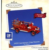 Sello Chevrolet 1929 Camión De Bomberos - Cuerpo De Bombero