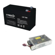 Kit Backup Ups Fuente Switching 12v 8a Ups + Batería 12v7a