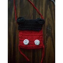 Cartera Mickey Para Celular O Para Nenas- En Crochet-