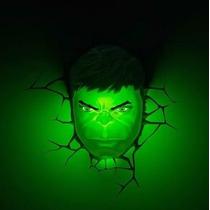 Marvel Luminária Máscara Do Hulk Avengers