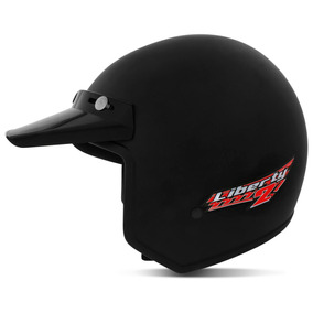 Capacete Aberto Liberty Two Abs Natural Pro Tork Preto 58