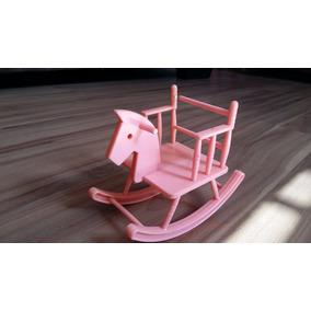 Cadeira De Balanço Cavalinho Para Boneca