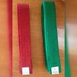 Cintas Cinturones De Colores Karate Taekwondo Verde Y Rojo
