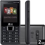 Celular Lg A 395 - 4 Chips - Preto
