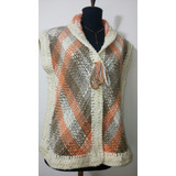 Chalecos Tejidos En Telar Crochet En Lana Merino Sedificada
