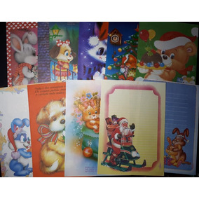 Lote C/20 Papéis Papel De Carta De Natal Natalino Decorados