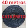 Cabo Rede Cat6 Preto 40m Metros Net Lan Utp Pronto Usar Uso