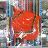 Disfraz Coya Colla Poncho+gorro Paño Infantil Belgrano R