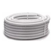 Rollo Caño Corrugado Blanco 3/4 X 25mts Flexible Ignifugo