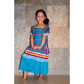 Vestido Flor De Piña Oaxaca Regional Tipico Baile Disfraz