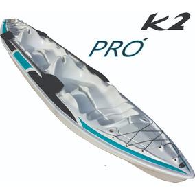 Caiaque K2 Pró Pesca Fibra De Vidro 2 Lugar + Remos !!!!