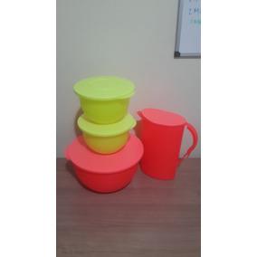 Tupperware Vasilhas Murano Kit Neon Colorido 4 Peças