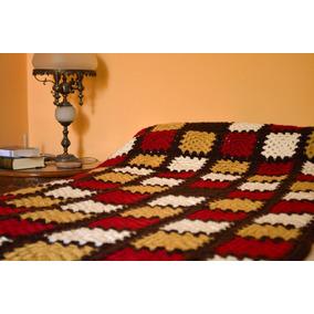 Manta Tejida A Crochet Vs Modelos 1 Plaza Artesanal