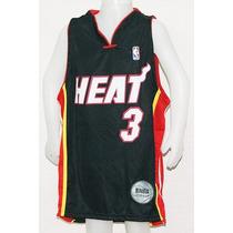 Camiseta Basquet Nba Niños Miami Heat Negra Wade