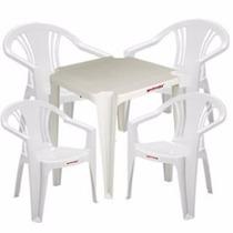 30 Jogos De Mesa+120cadeiras Brancas De Plástico Empilháveis
