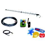 Kit Antena Celular Rural Internet 3g Quadriband 25 Dbi