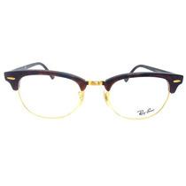 Ray-ban - Clubmaster 5154 -óculos De Grau-marrom Tartaruga