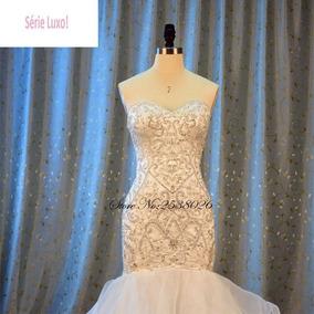 Vestido De Noivas Sereia Luxo 99409 Casamento Princesa Lindo