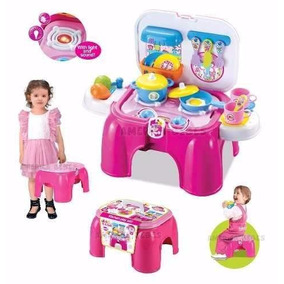 Banquito Cocina De Juguete Accesorios Sonidos Luz Zippy Toys