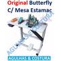Maquina Overlock Overloque Chinesinha Butterfly Com Mesa