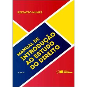 Manual Introdução Estudo Do Direito - Rizzatto Nunes 2016