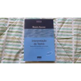 Interpretação De Textos - 13ª Edição - Livro Seminovo