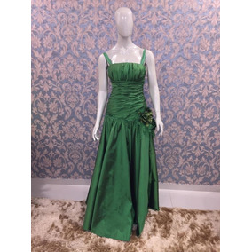 Vestido Sereia Verde Tafetá Formanda/madrinhaa Cs-278