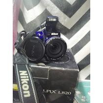 Cámara Nikon Coolpix L820 Azul