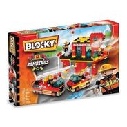 Blocky Bomberos 2 Con 150 Piezas 2 Muñecos Original