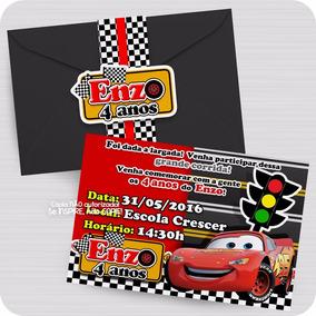 Convite Festa Personalizado Carros Disney Aniversário