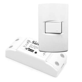 Modulo Interruptor 220v Wifi, Domotica Con Tecla Local.