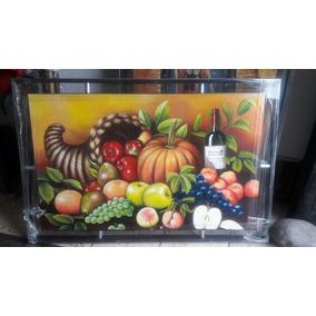 Cuadros Grandes Pintura A Mano. Frutas Y Cuerno Abundancia