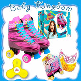 Patin Soy Luna Combo Completo Patinaje Alas Y Spinners Luces