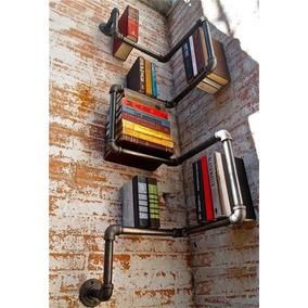 Librero Esquina De Pared Estilo Industrial