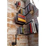 Librero Esquina De Pared Estilo Industrial 3/4