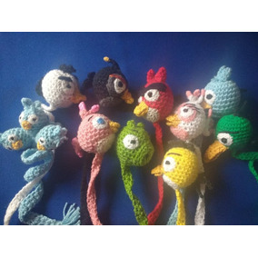 Angry Birds (paquete 10 Piezas) Separadores Tejidos A Mano