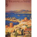 Viagem Férias Turismo Síria Praia Mar Barcos Poster Repro