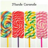 Paletas De Caramelo De 7cm Color A Elección, 12 Unidades