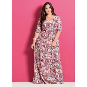 Vestido Longo Plus Size Moda Evangélica Tamanho Grande