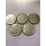 Moneda 50 Centavos San Martín 1952 1953 1954